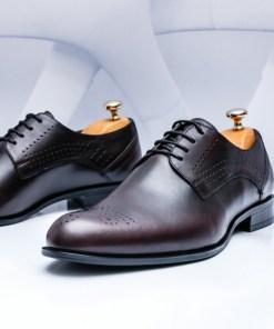 Pantofi barbati Piele visiniu inchis Lipsani-rl