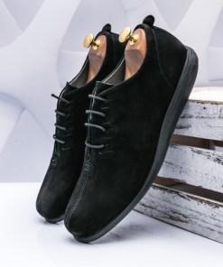 Pantofi Piele barbati negri Adevali-rl