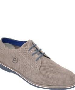 Pantofi BUGATTI gri, 64706, din piele intoarsa