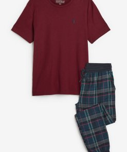 Pijama cu pantaloni in carouri
