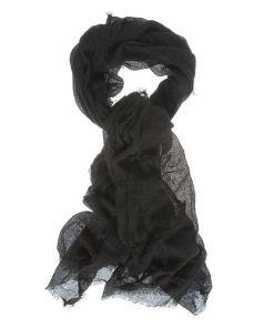 Esarfa neagra, material creponat