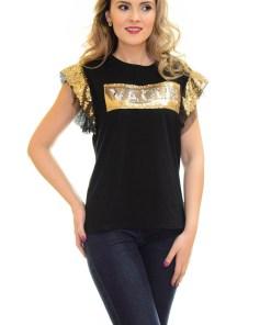Tricou Gold Vague Black