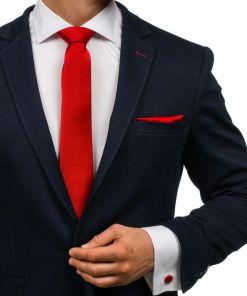 Set bărbați, papion, butoni, batistă roșu-închis Bolf MSP01