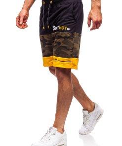 Pantaloni scurți de trening kaki Bolf KK300155