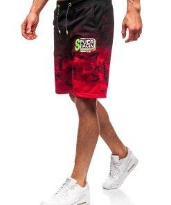 Pantaloni scurți de trening roșii bărbați Bolf KK300151