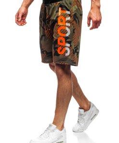 Pantaloni scurți de trening kaki Bolf KS2504