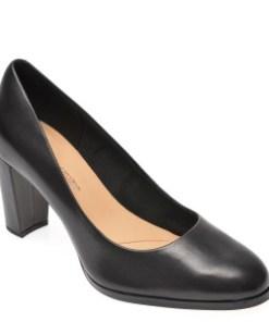 Pantofi CLARKS negri, Kaylin Cara, din piele naturala