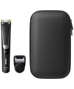 Aparat hibrid de barbierit si tuns barba OneBlade Pro /64 - Umed & Uscat - Pieptene 12 lungimi - Negru/Argintiu + trusa calatorie