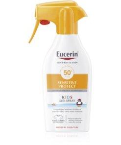 Eucerin Sun Sensitive Protect spray pentru protectie solara pentru copii SPF 50+