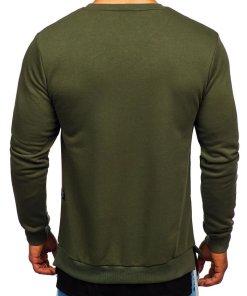 Bluză cu imprimeu bărbați kaki Bolf 11114