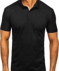 Tricou polo bărbați negru Bolf GD01
