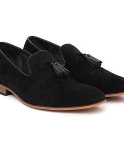 Pantofi barbati Alvin cu aspect catifelat Negru