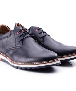 Pantofi barbati Clint cu interior moale din piele naturala Albastru
