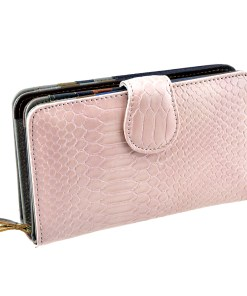 Portofel roz, de dama, din piele naturala, AG9625-28