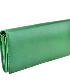 Portofel verde, de dama, din piele naturala, R005-32