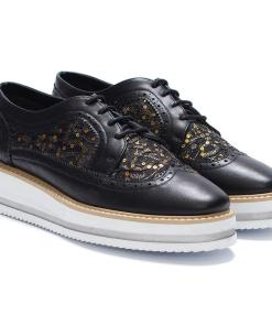 Pantofi dama Sue cu paiete Negru