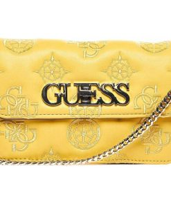 """GUESS Waist/ crossbody bag with logo embroidery """"Chic mini"""" Yellow"""
