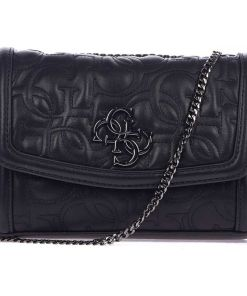 GUESS Quilted crossbody bag Black