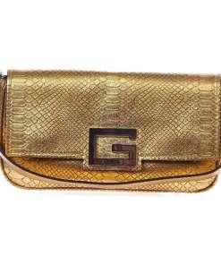 GUESS Baguette bag in reptile look Gold