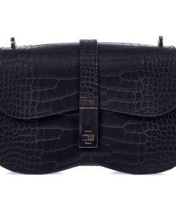 GUESS Shoulder bag in reptile look Black