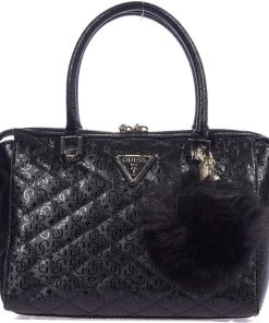 GUESS Lacquered hand bag Black