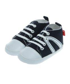 Papucei bebe din blug, albastri