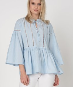 Bluza tip tunica cu terminatie evazata Sajja 2553781