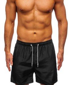 Pantaloni scurți de baie negri Bolf ST019