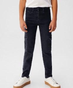 Mango Kids - Jeans copii Cargo 110-164 cm UPYK-SJB002_90X
