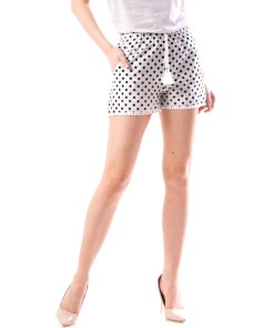 Pantaloni Scurti Dama Acsy34 Alb