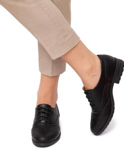 Pantofi dama Chasity cu marimi mari XXL Negru