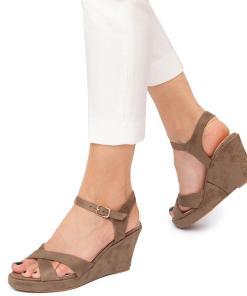 Sandale dama Lois cu platforma comoda Verde