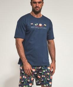 Pijama Sushi, albastru inchis