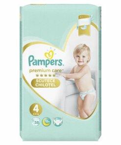 Scutece-chilotei Pampers Premium Care Maxi 4 Mega Box, 8-14 kg, 58 buc