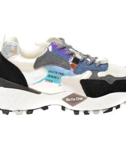 Pantofi sport FLAVIA PASSINI gri, 99130, din material textil si piele naturala