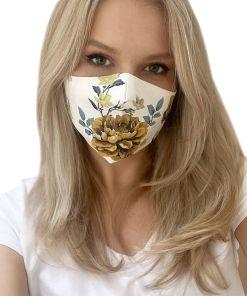 Set 2 masti reutilizabile cu imprimeu floral
