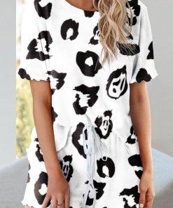 Pijama Cu Print Kirsten Alba