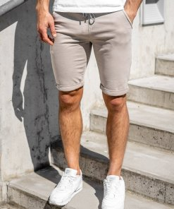 Pantaloni scurti bej barbati Bolf KG3723