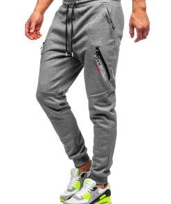 Pantaloni de trening gri barbati Bolf Q1041