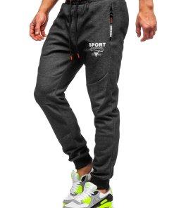 Pantaloni de trening negru-portocaliu Bolf Q1042