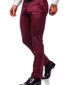 Pantaloni chinos bordo barbati Bolf KA1786P