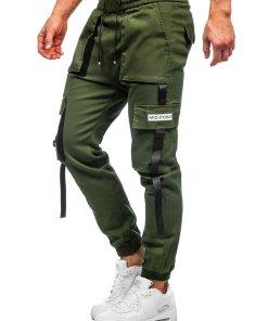 Pantaloni cargo kaki barbati Bolf KA1911