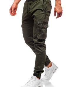 Pantaloni cargo verde-inchis barbati Bolf CT6702