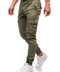 Pantaloni cargo joggers verde-deschis barbati Bolf CT6703