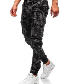 Pantaloni cargo joggers gri Bolf CT6018