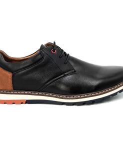 Pantofi barbati Clint cu interior moale din piele naturala Negru