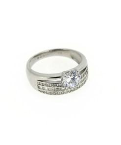 Inel din argint tip logodna, marime 54