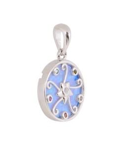 Pandantiv argint cu opal albastru