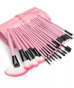 Set 32 pensule profesionale de machiaj Pink Candy