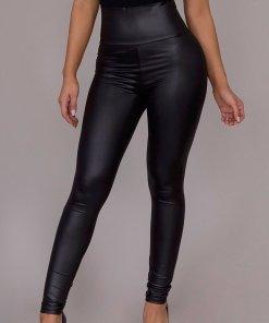Pantaloni Piele Demelza Negri
